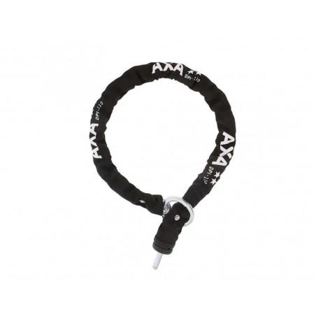 Kättinglås plug-in grovt, Axa 9mm kätting 110 cm lång för solid ringlås, Svart,