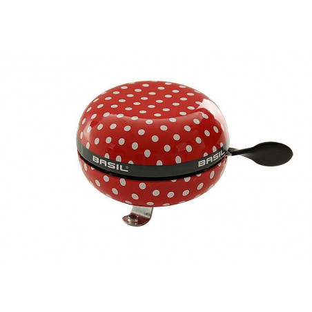 Basil Big Bell Polkadot, Red/White Dots 80mm