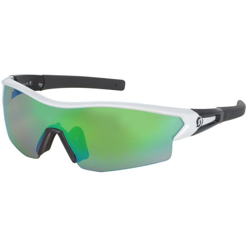 Scott Sunglasses Leap White Glossy/Black Green Chrome