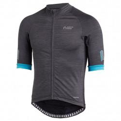NorthBend Exocool Bike Shirt Full Zip Herr Black