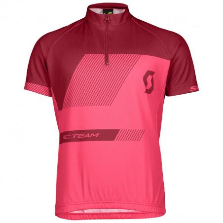 Scott Shirt Jr RC Team Azur Pink/Tibetan Red
