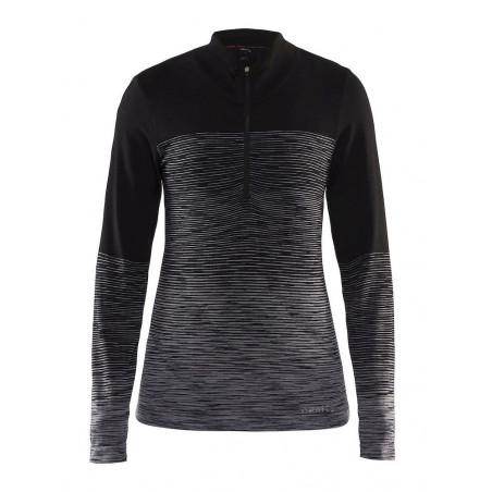 Craft Wool Comfort 2.0 Zip W Black/Dark Grey