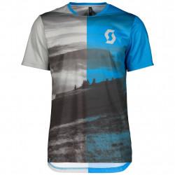 Scott Trail Flow Shirt Light Grey/Aster Blue