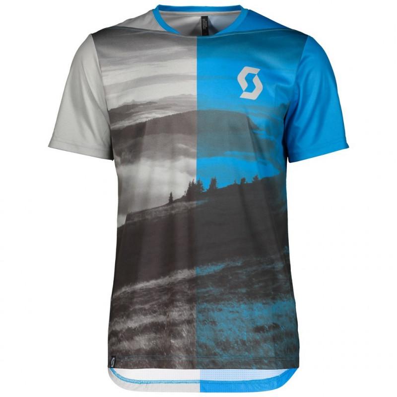 Scott Shirt Ms Trail Flow s/sl li gry/as bl