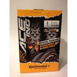 Däckset Conti Race King RS 2 st däck & 2 st slangar svart 55-622/29x2,2