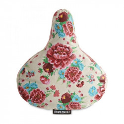 Basil Saddle Cover, Bloom Gardenia White