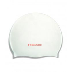Head Swim Cap silicone moulded - white