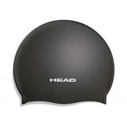 Head Swim Cap Silicone Svart