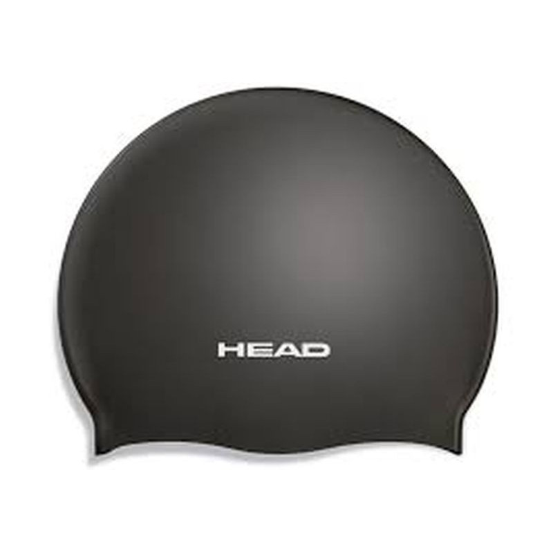 Head Swim Cap silicone moulded - black