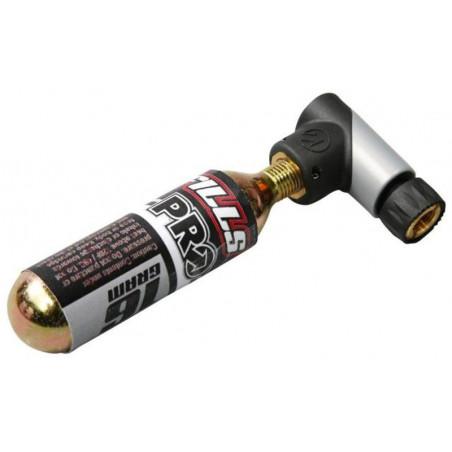Pump Micro CO2 Inflator, alu/plast racer/bilventil