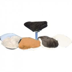 Sadeltäcke, fårskinn Sport Blandade färger L295xB210mm