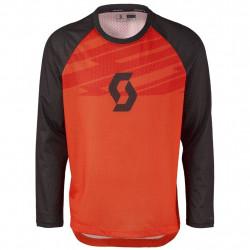 Scott Shirt Trail DH l/sl Tangerine Orange/Red
