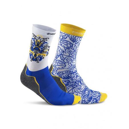 Craft Falun 2-pack Socks Sweden Blue